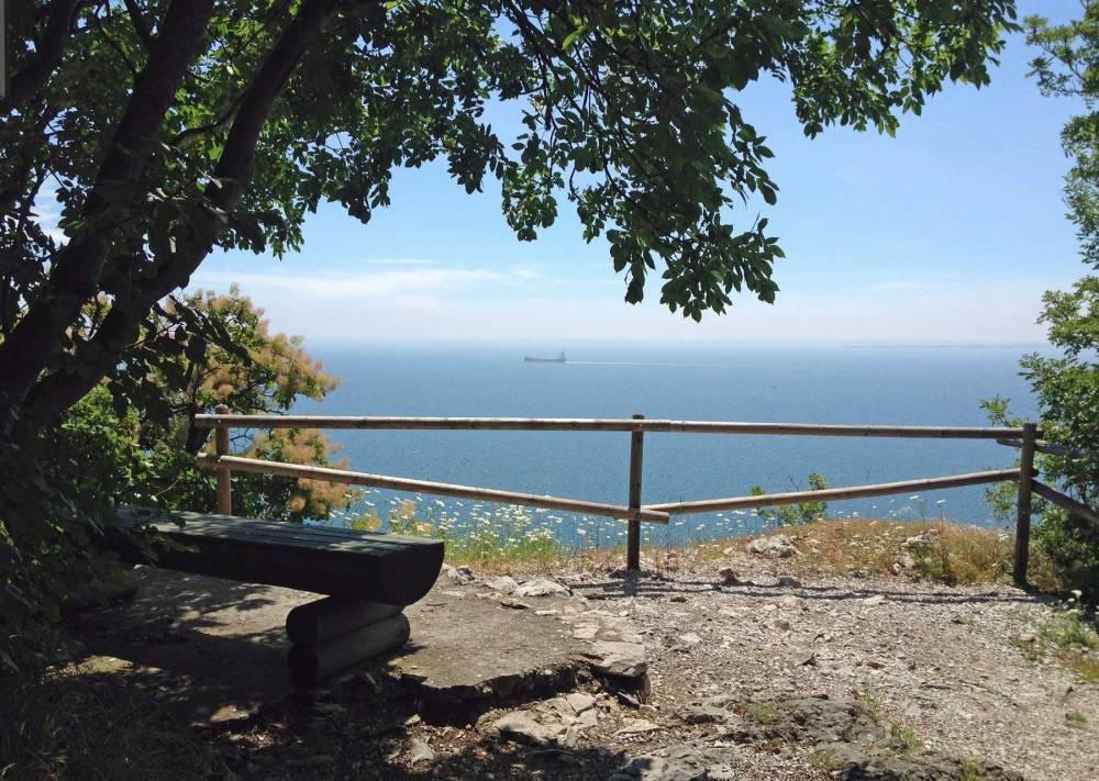 Ausblick vom Rilkeweg in Italien