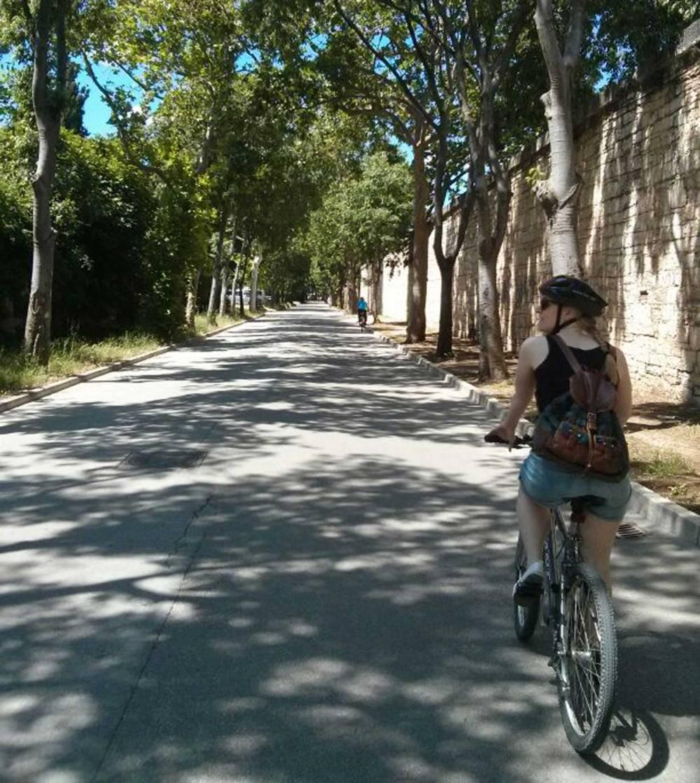 Fahrradfahren in Pula