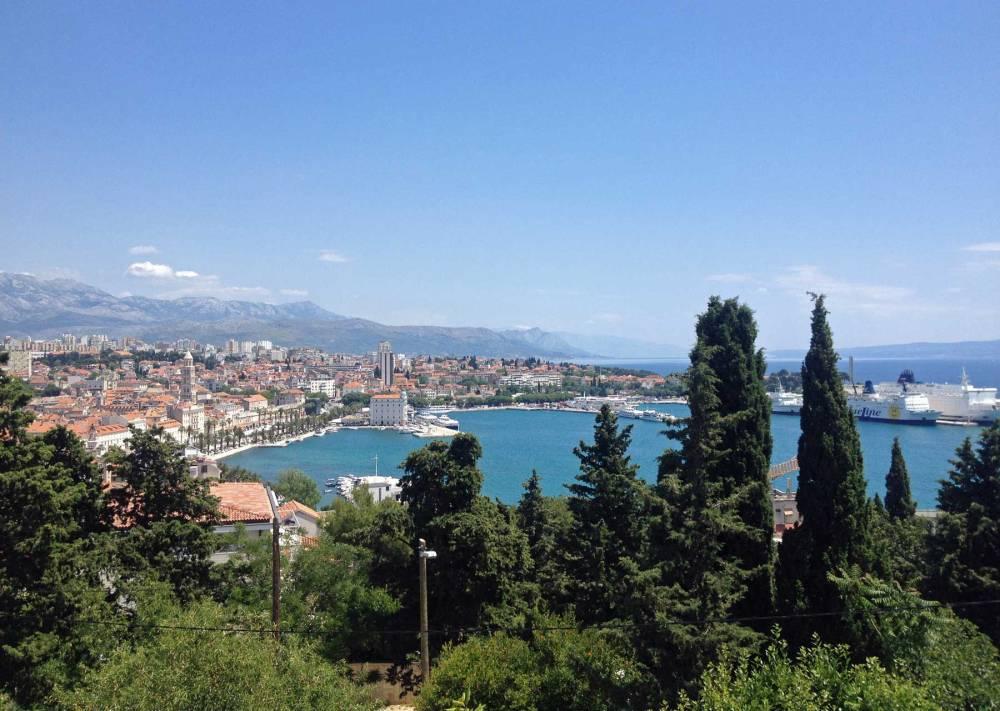 Blick über die Bucht von Split