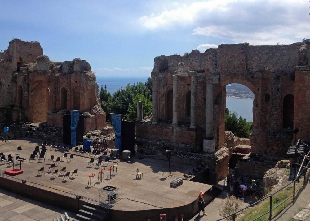 Amphitheater in Taormina auf Sizilien