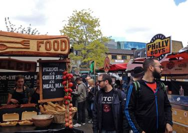 Streetfood auf dem Camden Market in London