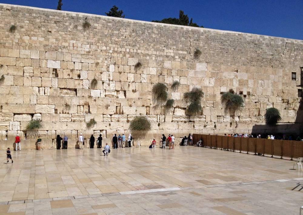 Klagemauer in Jerusalem in Israel