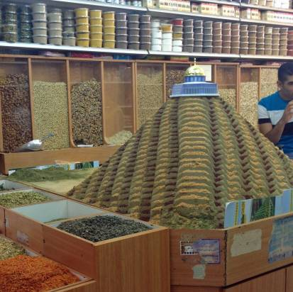 Gewürze-Pyramide in der Altstadt von Jerusalem