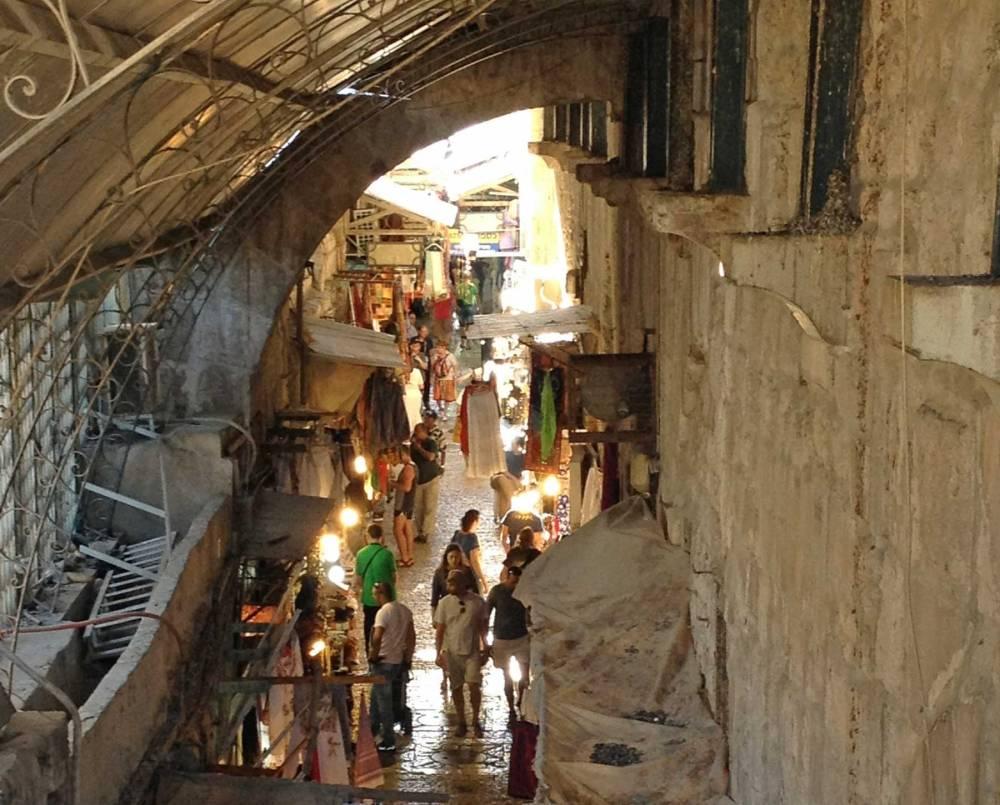 Souks in der Altstadt von Jerusalem in Israel