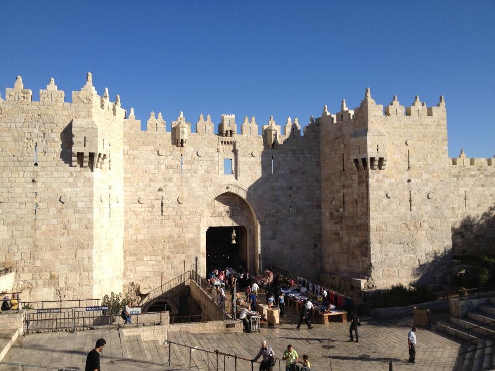 Tor, das in die Altstadt von Jerusalem führt