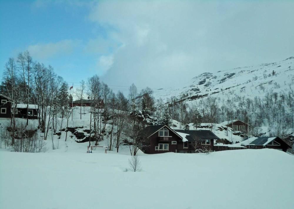 Verschneite Landschaft in Norwegen