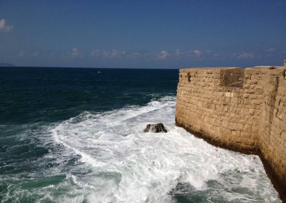 Festungsmauer von Akko in Israel