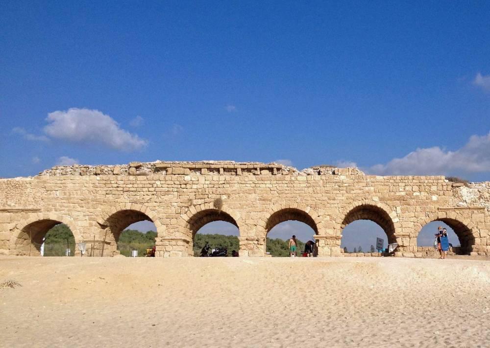 Strand von Caesarea in Israel