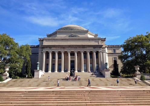 Wie man sich eine ehrwürdige Universität eben vorstellt: die Columbia University.