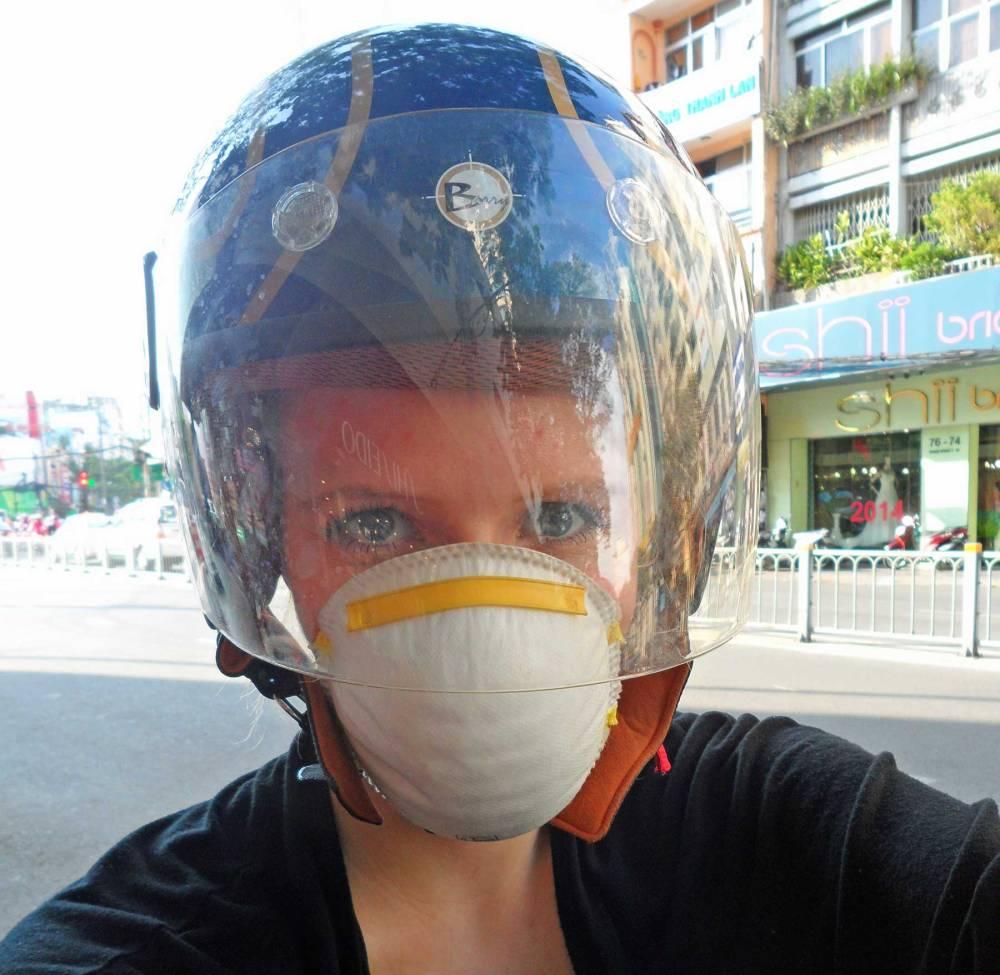 Staubmaske als Staubfilter für Ho Chi Minh City