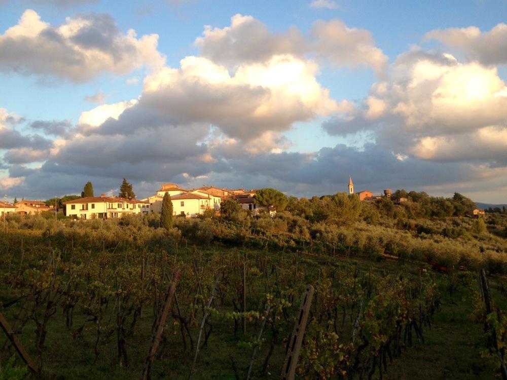 Sonnenuntergang in der Toskana: