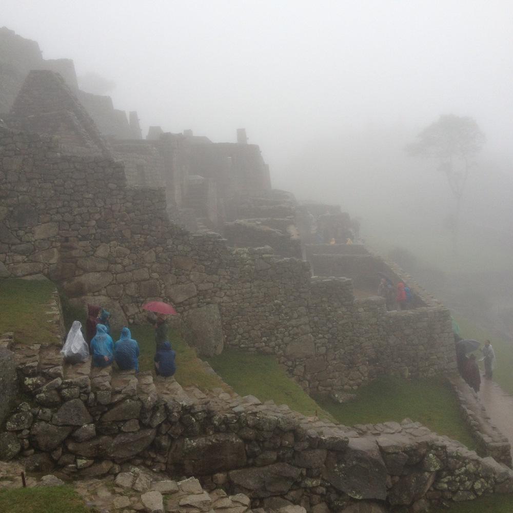 Nebel auf Machu Picchu