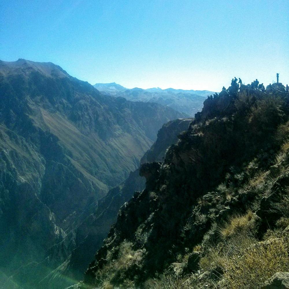 Aussichtspunkt für den Cruz del Condor im Colby Canyon in Peru