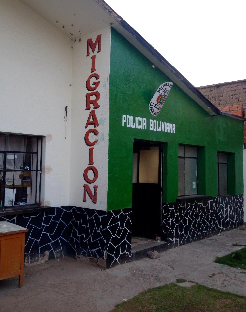 Grenzposten zwischen Peru und Bolivien