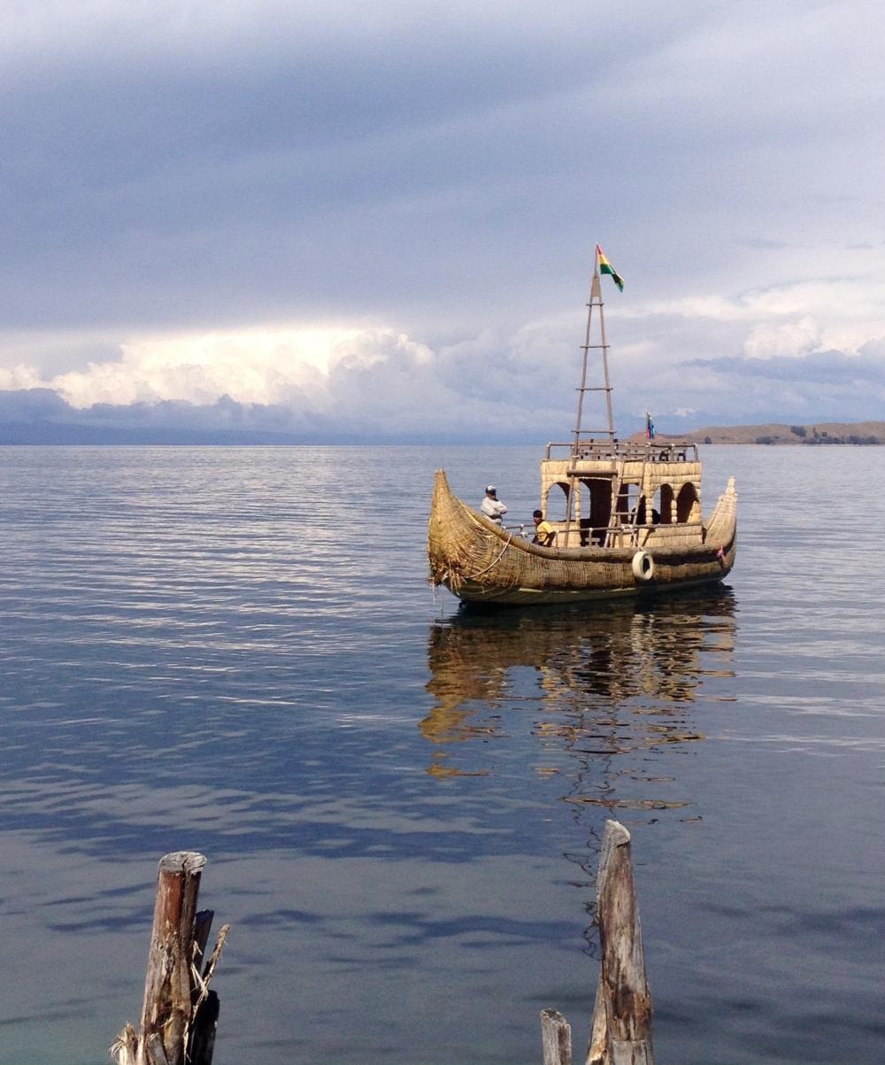 Boot auf dem Titicaca-See