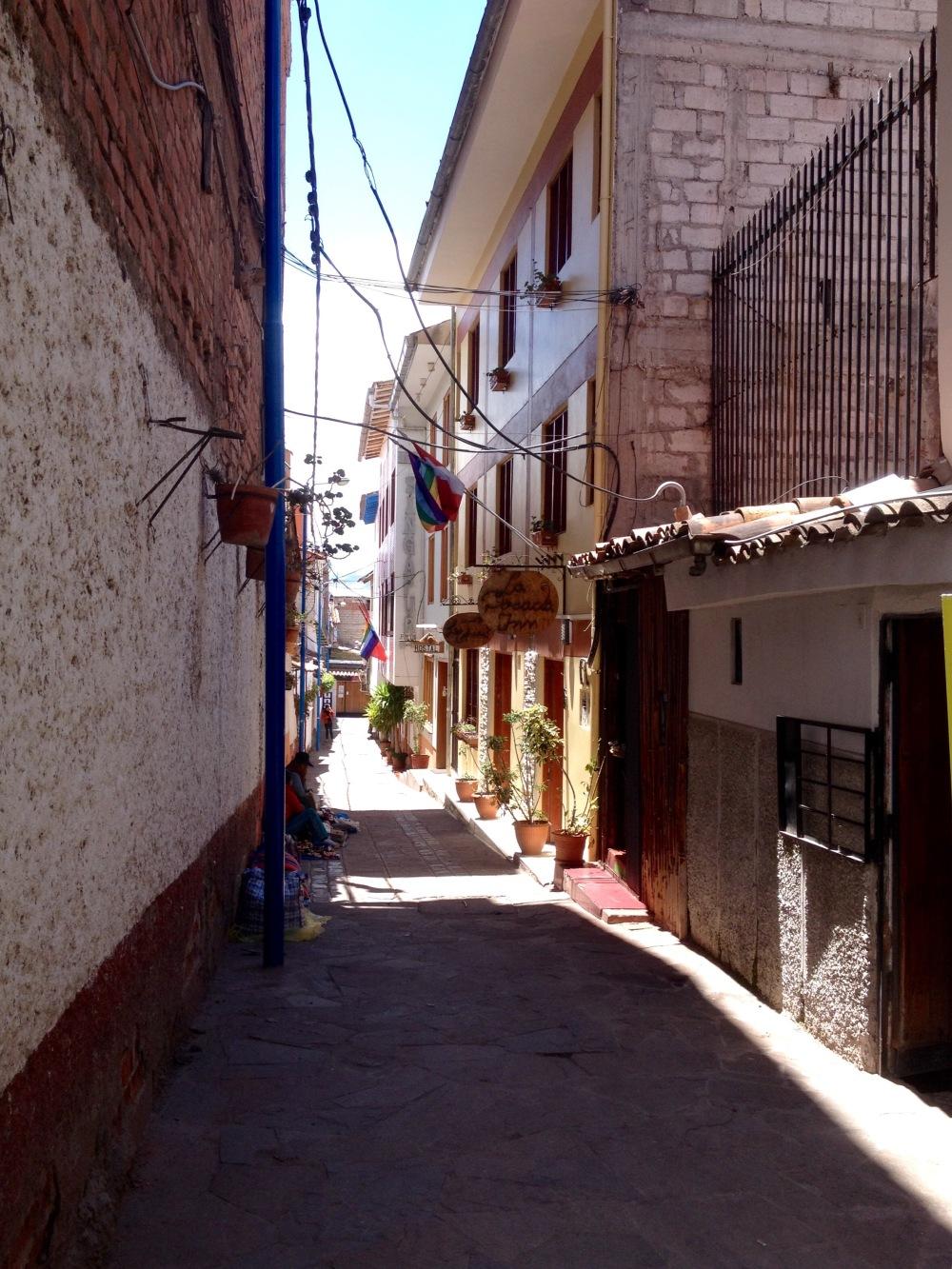 Straße in Cusco in Peru