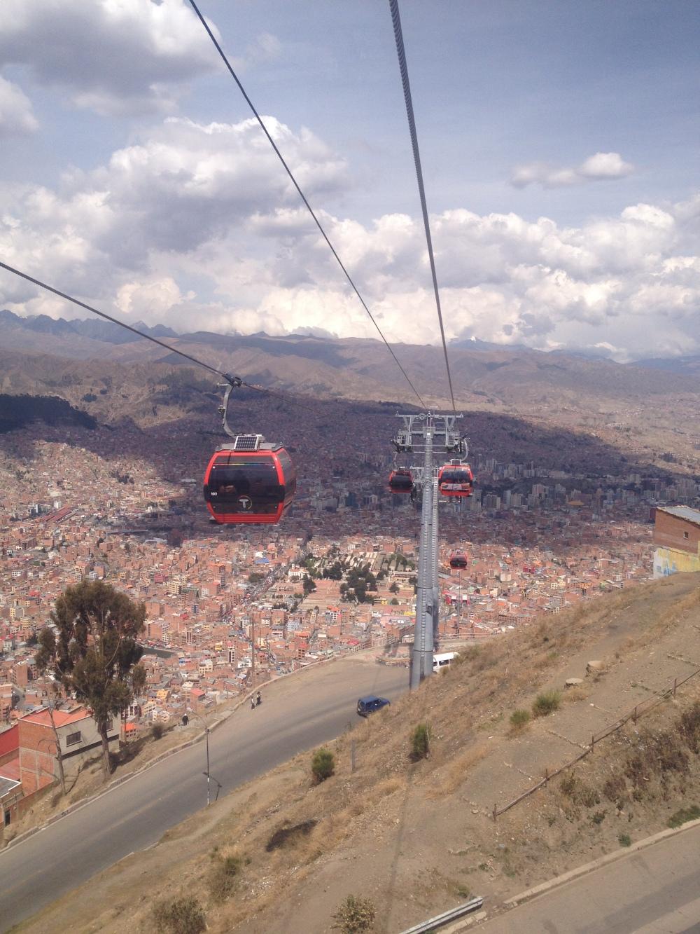 Teleferico, die Stand-Seilbahn von La Paz
