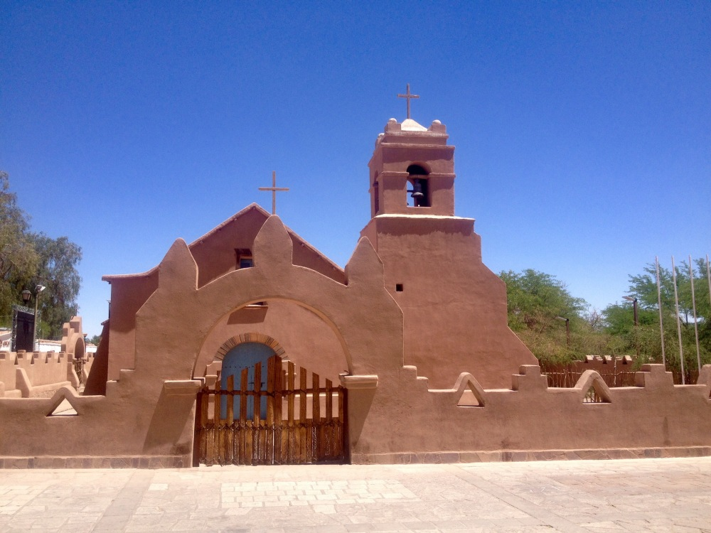 Kirche in San Pedro de Atacama in Chile