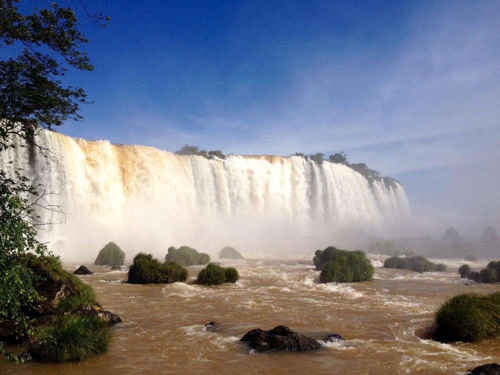 Wasserfälle bei Iguazu auf der brasilianischen Seite