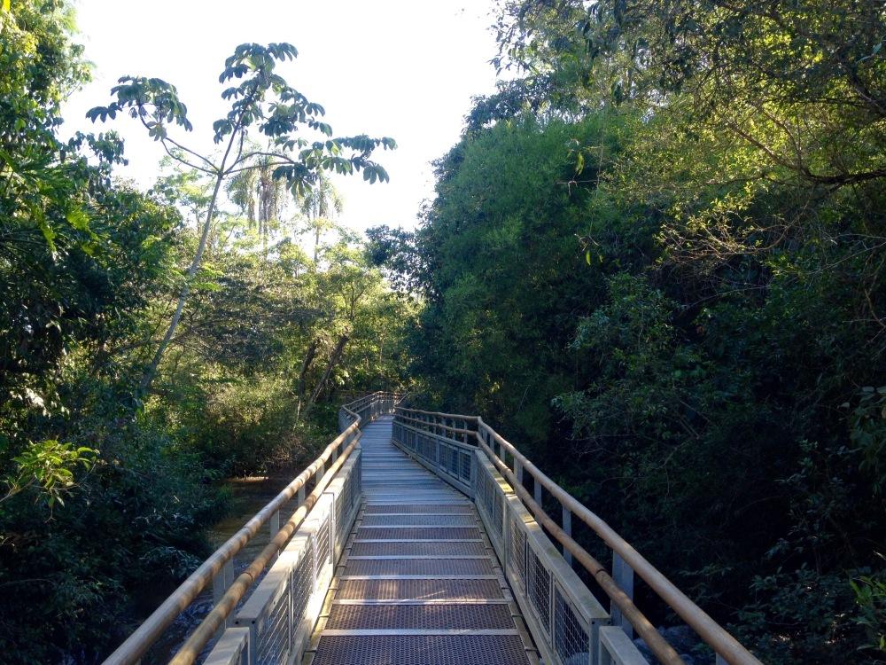 befestigte Wege und Brücken führen durch den Nationalpark