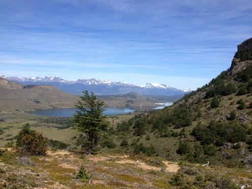 Aussicht über die Ebene in Patagonien