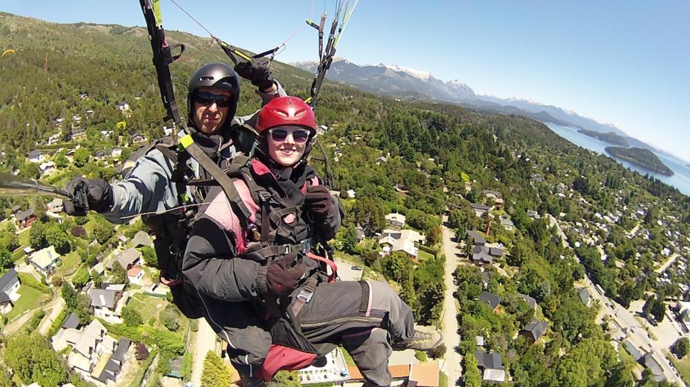 Paragliding Bariloche Patagonien