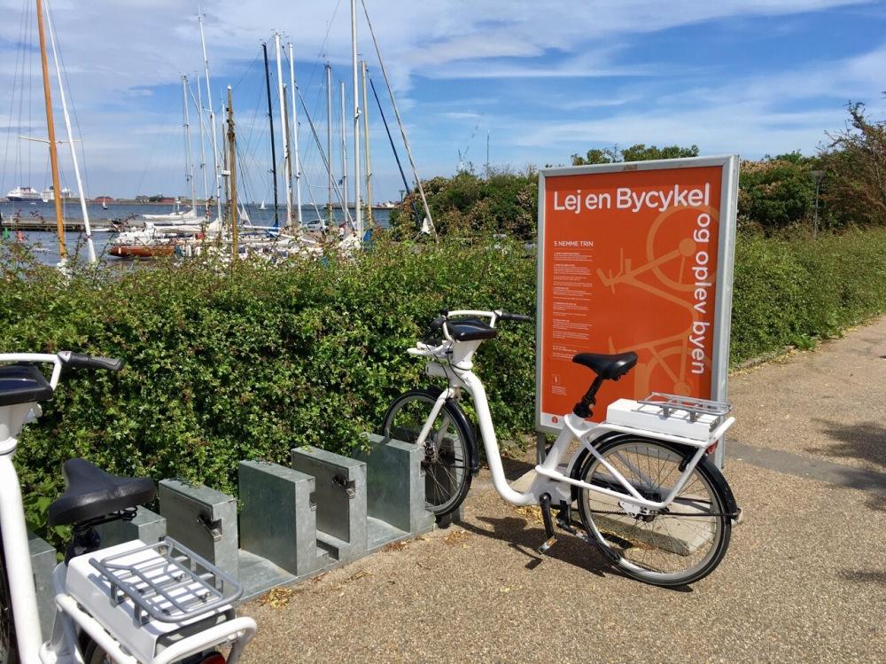 Station um ein Fahrrad in Kopenhagen zu mieten