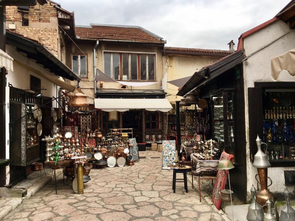 Basar in der Altstadt von Sarajevo
