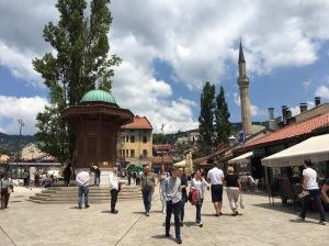 Marktplatz Baščaršija in Sarajevo