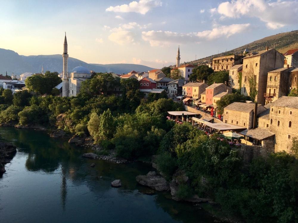 Sonnenuntergang in Mostar