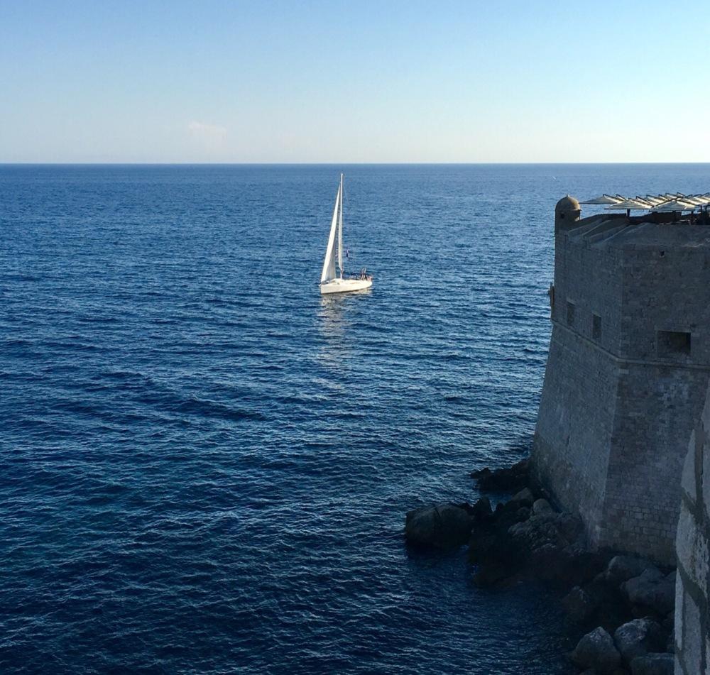 Segler vor Dubrovnik