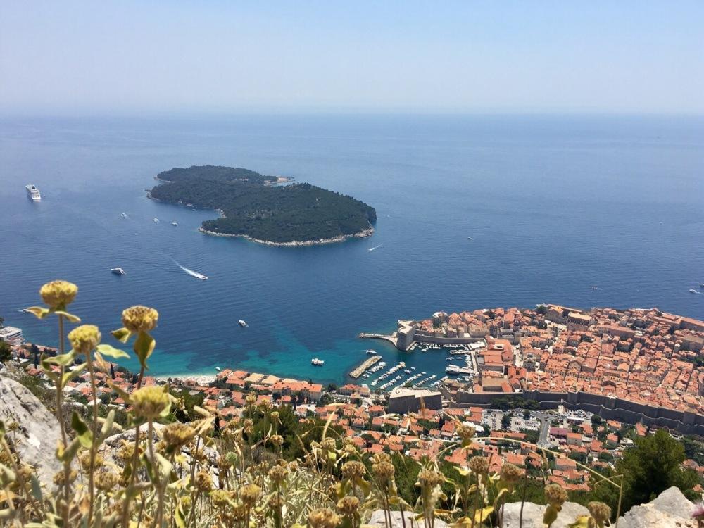 Dubrovnik und Lokrum von oben