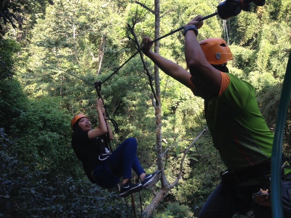 Ziplining bei Chiang Mai in Thailand