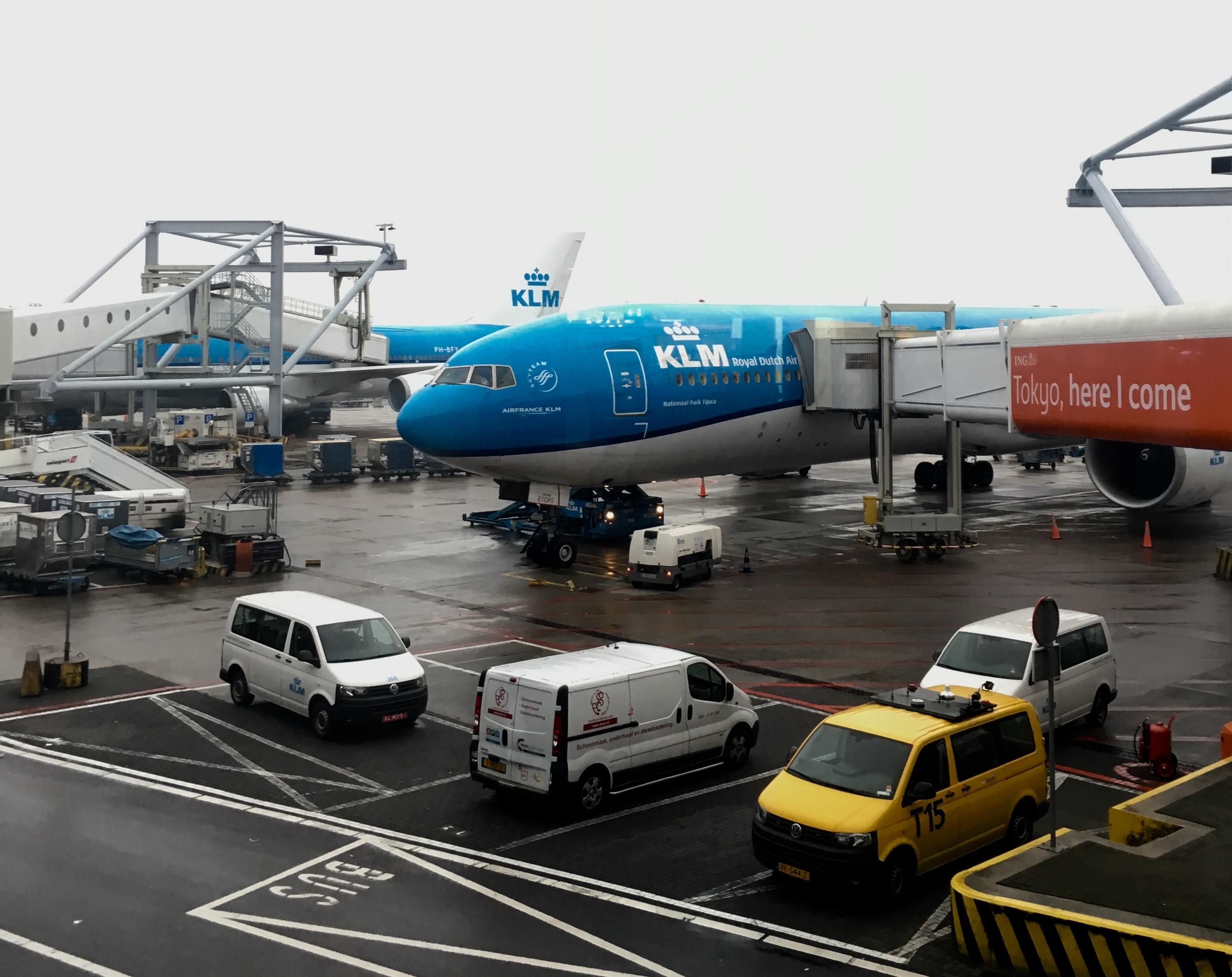 KLM Flug Tansania